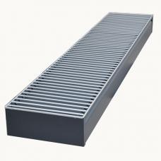 Внутрипольный конвектор отопления с естественной конвекцией БРИЗ 380x100x800