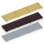 Декоративная решетка itermic LGA.200.600, продольная, материал алюминий