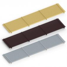 Декоративная решетка itermic LGA.200.1000, продольная, материал алюминий